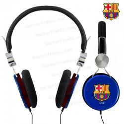 Auriculares Jack 3,5 Mm Stereo Licencia Cascos Fútbol F.C. Barcelona