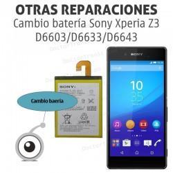 Cambio batería Sony Xperia Z3 D6603/D6633/D6643