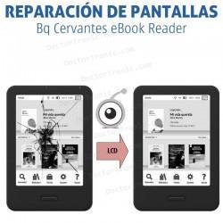 Reparación pantalla libro electrónico bq cervantes