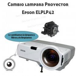 Cambio lampara Proyector Epson ELPLP42