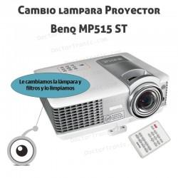 Cambio lampara Proyector Benq MP515 ST
