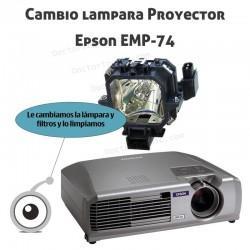 Cambio lampara Proyector Epson EMP-54