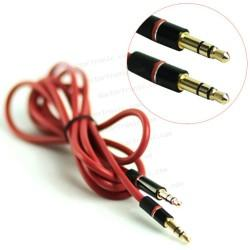 Cable Auxilar Audio Doble Jack 3,5 mm 3 vias 1.3M