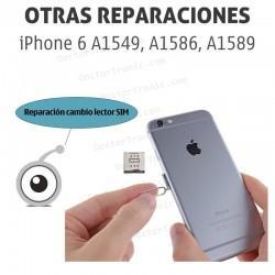 Reparación cambio lector SIM iPhone 6 A1549, A1586, A1589