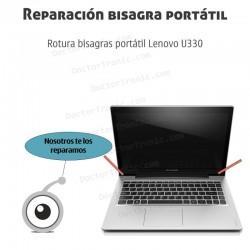 Reparación rotura bisagra portátil Lenovo U330