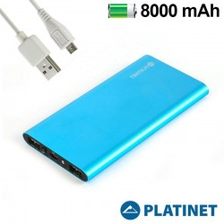 Batería Externa Micro-Usb Power Bank 8000 MAh Platinet Slim