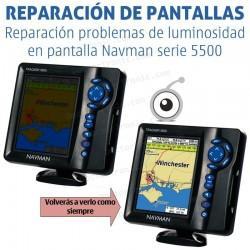 Reparación problemas de pantalla Navman serie 5500