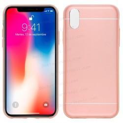 Carcasa IPhone X Aluminio Rosa