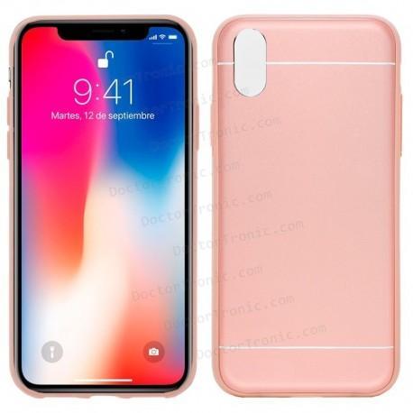 55e5b5a2822 Carcasa IPhone X Aluminio (Rosa) - Doctor Tronic