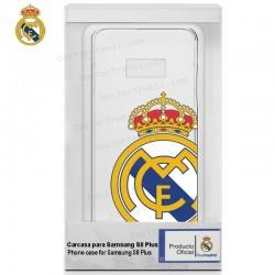 Carcasa Samsung G955 Galaxy S8 Plus Licencia Fútbol Real Madrid Transparente Escudo