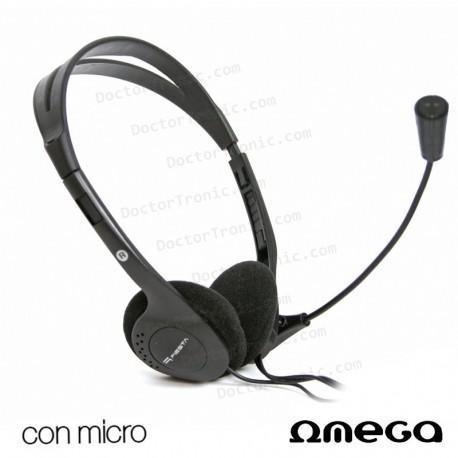 Auriculares Stereo Para PC Hi-Fi Omega Negro