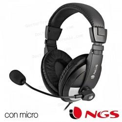 Auriculares Stereo Para PC NGS MSX9 Con Micro Negro