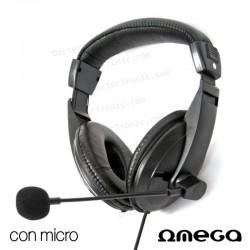Auriculares Stereo Para PC Negro Omega Soft