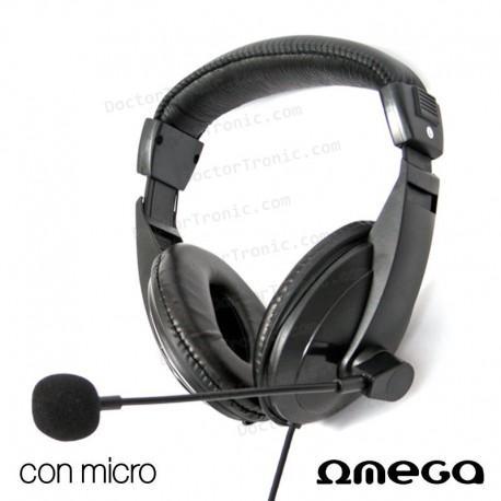 Auriculares Stereo Para PC Negro Omega Soft