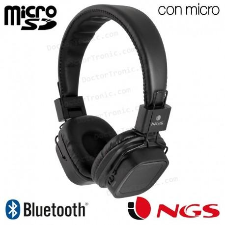 Auriculares Stereo Bluetooth Cascos Universal NGS Artica Jelly Negro
