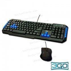 Teclado USB PC Kit 3GO Teclado Con Raton Combodrile