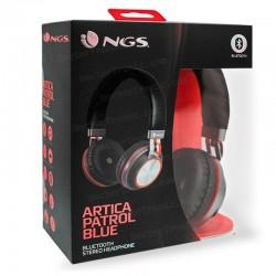 Auriculares Stereo Bluetooth Cascos Universal NGS Artica Patrol Red