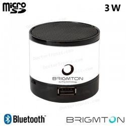 Altavoz Bluetooth Metal Speaker Cilindro Brigmton Blanco (3W)