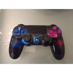 Mando PS4 personalizado media pintura materia oscura + palancas