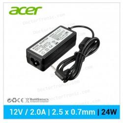 Cargador Red Tablet ACER | 12V / 2.0A | 2.5x0.7mm