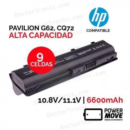 Batería ordenador portátil HP PAVILION G62   ALTA CAPACIDAD   9 CELDAS