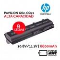 Batería ordenador portátil HP PAVILION G62 | ALTA CAPACIDAD | 9 CELDAS