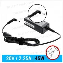 Cargador LENOVO Compatible | 20V / 2.25A | 4.0 x 1.7mm | 45W