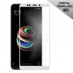 Protector Pantalla Cristal Templado Xiaomi Redmi 5 Plus (FULL 3D Blanco)