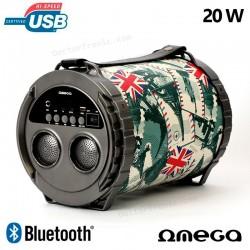 Altavoz Música Universal Bluetooth Omega Bazooka (20W)