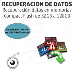 Recuperación datos en memorias Compact Flash desde 32GB a 128GB