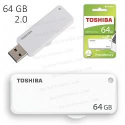 Pen Drive USB x64GB Toshiba - U203 USB 2.0 Capacity Blanco