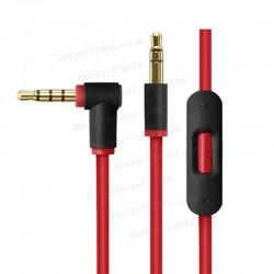 Cable Auxilar Audio Doble Jack 3,5 mm 3 vias para auriculares Beats Solo/HD/Studio/Pro/Detox/Wireless/Mixr