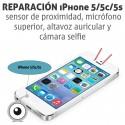 Reparación iPhone 5/5c/5s cámara frontal / sensor de proximidad / microfono superior / altavoz auricular