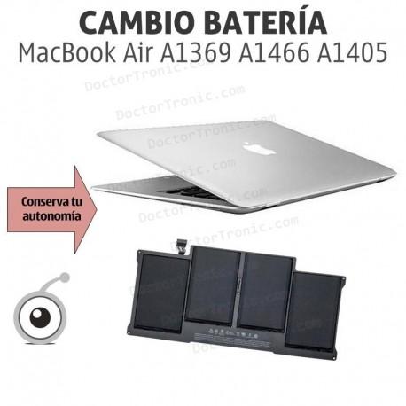 Cambio batería MacBook AIR Apple A1369 A1466 A1405