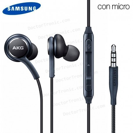 Auriculares 3,5 Mm Universal Original Samsung (Jack 3,5mm) Negro Bulk (AKG)