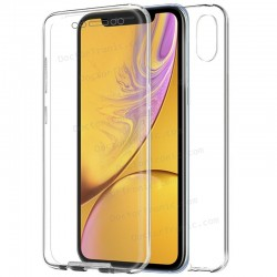 Funda Silicona 3D IPhone XS (Transparente Frontal + Trasera)