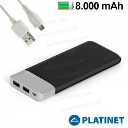 Bateria Externa Micro-Usb Power Bank 8000 MAh Platinet Polipiel + Metal (Polímero)