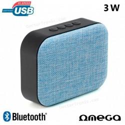 Altavoz Bluetooth Rectangular Omega Tela Azul (3W)