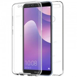 Funda Silicona 3D Huawei Y7 (2018) / Honor 7C (Transparente Frontal + Trasera)