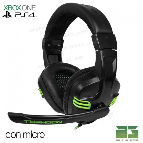 Auriculares Stereo con micrófono Para PS4 y PC Typhoon BG Gaming