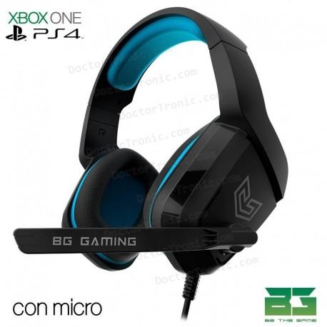 Auriculares Stereo con micrófono Para PS4 y PC Radar BG Gaming
