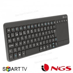 Teclado Wireless NGS Touchpad Multimedia Warrior