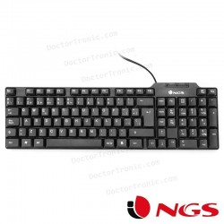 Teclado USB PC Funky NGS Negro