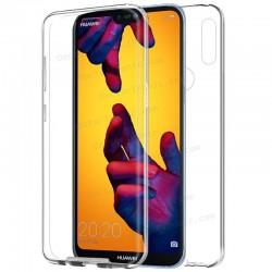Funda Silicona 3D Huawei P20 Lite (Transparente Frontal + Trasera)