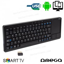 Teclado Wireless Multimedia Touchpad Omega