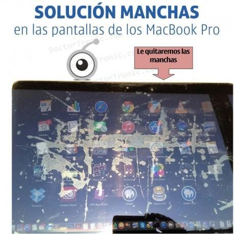 Solución manchas en las pantallas de los MacBook Pro