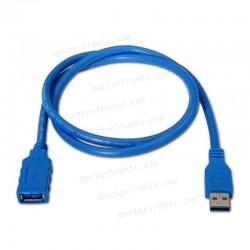Cable alargador USB USB 3.0 NANOCABLE (A macho - A hembra) - 1m
