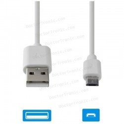 Cable Datos Usb 2m BLANCO (micro-usb)