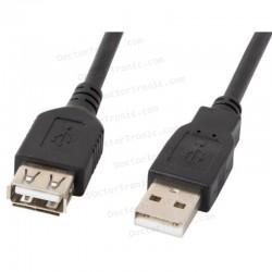 Cable alargador USB USB 2.0 (A macho - A hembra) - 70cm