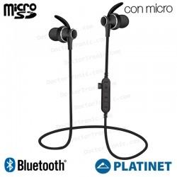 Auriculares Stereo Bluetooth Deportivos Universal Platinet Magnéticos Negros